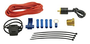"Derale Low Amp 3/8"" NPT Thread In Probe Thermostat Kit"