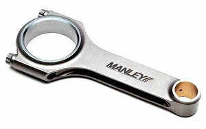 Manley Steel H-Beam Stock Length Connecting Rods w/ 22mm Pin & ARP2000 Bolts